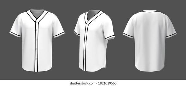 Baseball T Shirt Mockup isolated on grey background, 3d illustration, 3d rendering