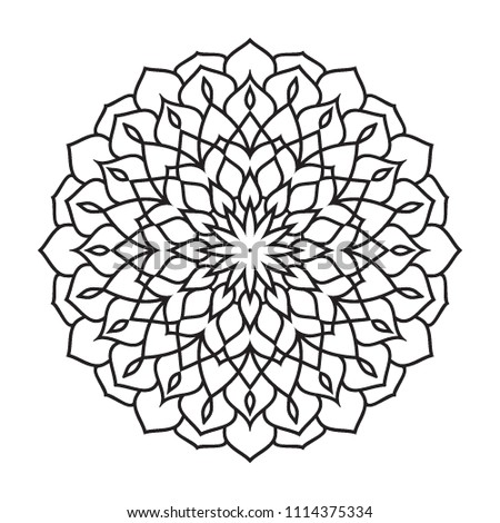 Basic Easy Simple Mandalas Coloring Pages Stockillustration ...