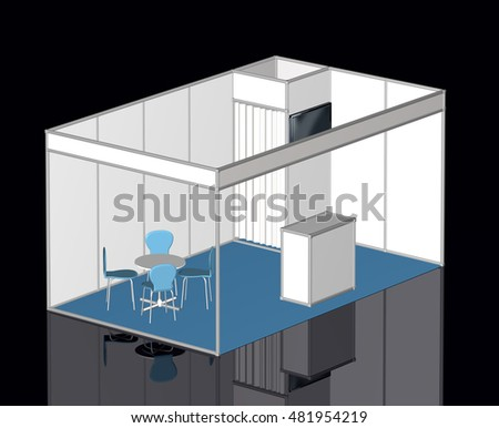 Exhibition Stand 3d Model Free : Royalty free stock illustration of basic exhibition stand d