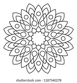 easy mandala abstract pattern beginner adults stock illustration