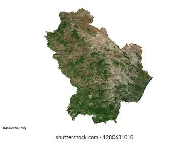Basilicata, Italy Map (3D illustration)