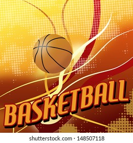 Basketball abstract  poster background