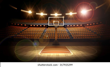 Basketball arena 3d render