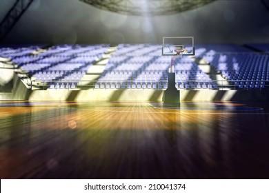 basketball arena render