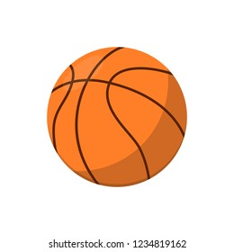 Basketball ball isolated icon. Athletic equipment, healthy lifestyle, fitness activity illustration.
