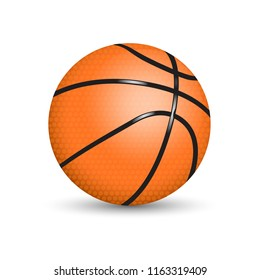 A basketball (basketball ball) is a spherical ball used in basketball games. Basketballs typically range in size from very small promotional items only a few inches