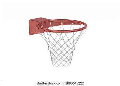 A basketball basket isolated on a white background - 3d render