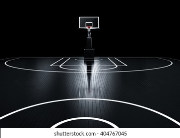Basketball court. Photorealistic 3d Illustration of a sport arena background
