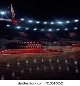 Basketball court. Sport arena.  background. unfocus in long shot distance