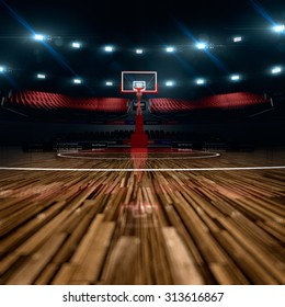 Basketball court. Sport arena.  background. unfocus in long shot distance