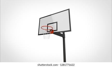 basketball goal 3d rendering