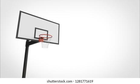 basketball goal right 3d rendering