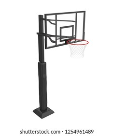 Basketball Hoop Isolated. 3D rendering