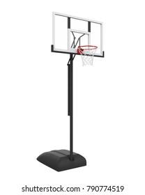 Basketball Hoop Isolated. 3D rendering