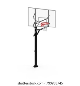 Basketball hoop on white background 3d illustration