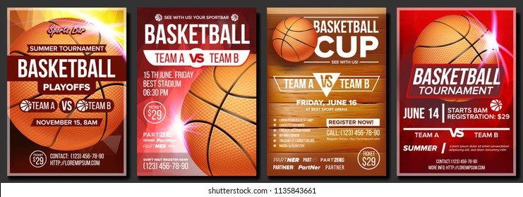 Basketball Poster. Design For Sport Bar Promotion. Basketball Ball. Modern Tournament. Game Event Illustration