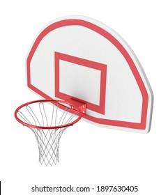 Basketball Rim 3D illustration on white background