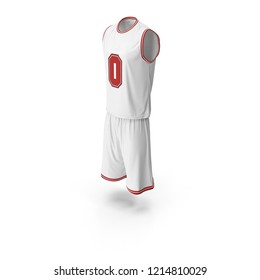 Basketball uniform blank top and short isolated: sleeveless shirt  and shorts. Front, back and side views 3D illustration