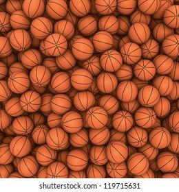 Basketballs background