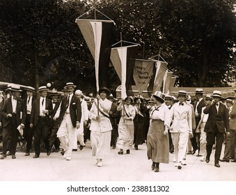 Bastille Day spells prison for sixteen suffragettes who picketed the White House. July 19, 1917