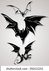 Bat Tribal Designs