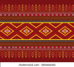 Batak traditional cloth, red and black color