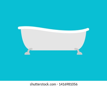 Bath isolated. bathtub. Bathroom accessory.