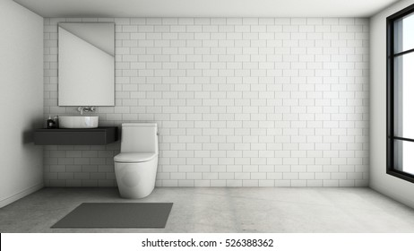 Bathroom design Modern & Loft - 3D render