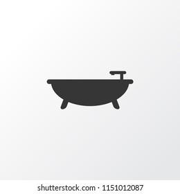 Bathroom icon symbol. Premium quality isolated tub element in trendy style.