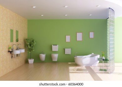 bathroom with modern style.3d render