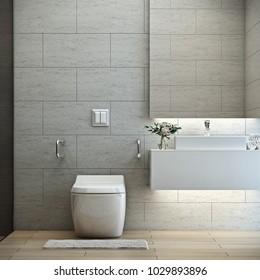 bathroom safety for elderly, Modern style, 3D render