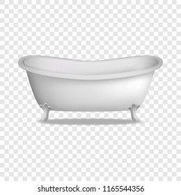 Bathtub mockup. Realistic illustration of bathtub mockup for on transparent background