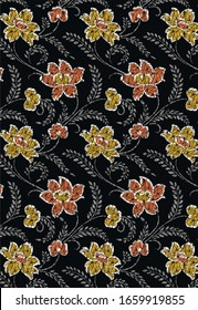 BATIK PATTERN DESIGN BACKGROUND ART FOR PRINT