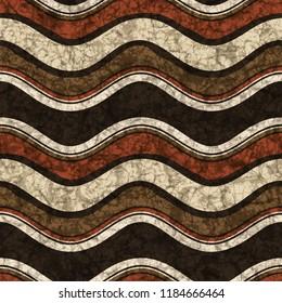 Batik seamless texture with ethnic pattern, fabric texture, 3d illustration