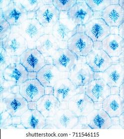 Batik tie dye pattern modern