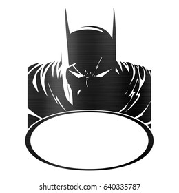 batman comic logo illustration empty