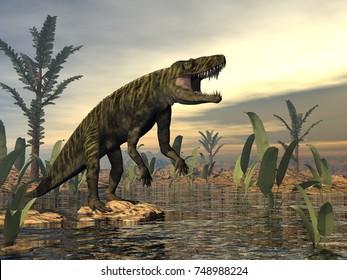 Batrachotomus dinosaur -3D render
