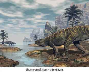 Batrachotomus dinosaurs -3D render