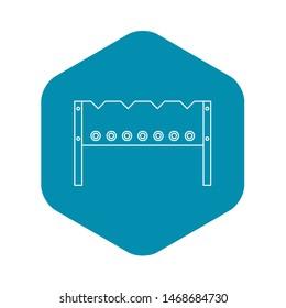BBQ brazier icon. Outline illustration of BBQ brazier icon for web