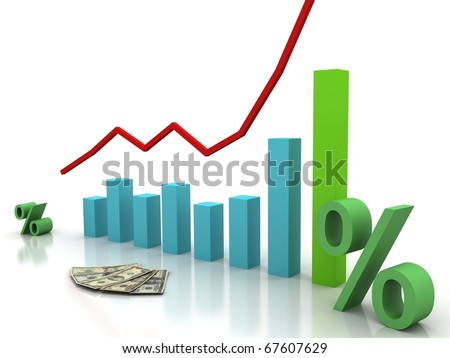 be ahead schedulethe interest rate stock illustration 67607629