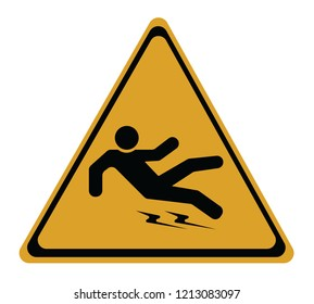 Be careful the floor is wet and slippery