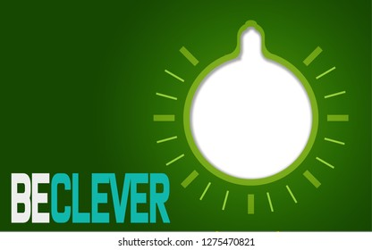 Be clever with stylized light bulb, 3D rendering
