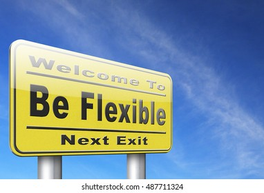 Be flexible adaptable and easy going, adapt to different situations. 3D, illustration