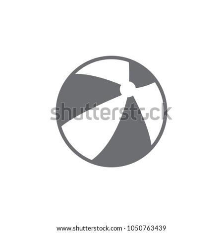 beach ball icon simple element illustration stock illustration