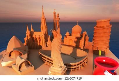 3d Sand Castle Images, Stock Photos & Vectors   Shutterstock