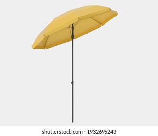 Beach umbrella isolated on background. 3d rendering - illustration