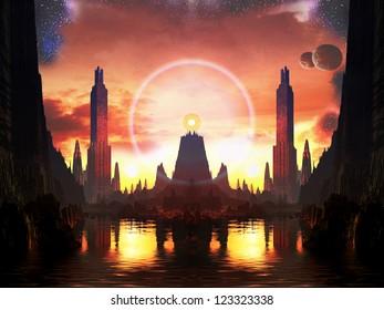 Beacon of Light in Future Metropolis