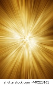 Beam of rays in golden tones as textured background.