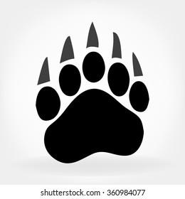 bear footprint illustration