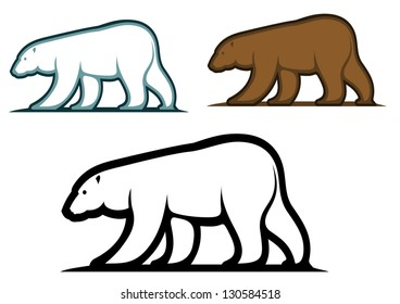 Bear mascots in cartoon style isolated on white background. Vector version also available in gallery
